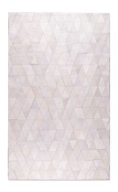 Dhairya Stitch Hand-Woven Cowhide Mosaik Off White Area Rug Rug Size: 5' x 8'