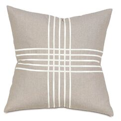Criss-Cross Throw Pillow Color: Greer Linen