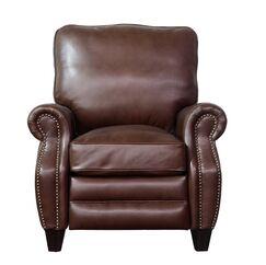 Ponteland Leather Manual Recliner Upholstery: Shoreham Chocolate
