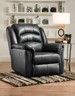 Max Recliner Reclining Type: Manual, Motion Type: Wall Hugger, Upholstery: Surreal Night