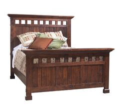 Panel Bed Color: Vintage Red, Size: California King