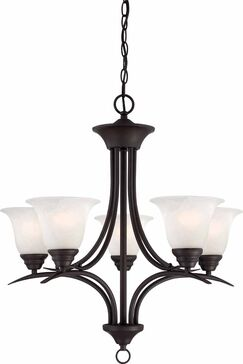 Whetsel 5-Light Shaded Chandelier Color: Antique Bronze