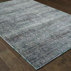 Bobby Blue/Gray Area Rug Rug Size: Rectangle 6'7