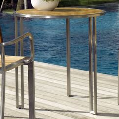 Grace Teak Coffee Table Finish: Stainless Steel