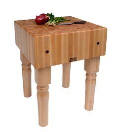 BoosBlock Butcher Block Prep Table Size: 18