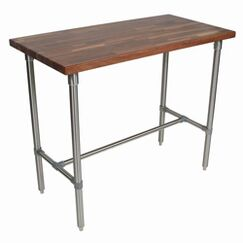 Cucina Americana Counter Height Extendable Dining Table Finish: Walnut, Size: 36