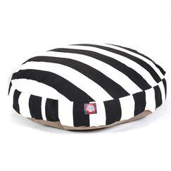 Vertical Stripe Round Pet Bed Size: Medium (36