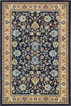 Essehoul Navy Blue Area Rug Rug Size: Rectangle 6' x 9'