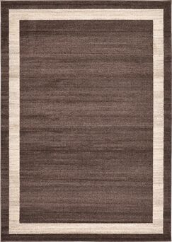 Christi Brown/Beige Bordered Area Rug Rug Size: Rectangle 7' x 10'