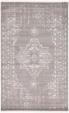 Sherrill Light Gray Area Rug Rug Size: Rectangle 5' x 8'