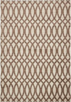 Greene Brown/Beige Area Rug Rug Size: Rectangle 7' x 10'