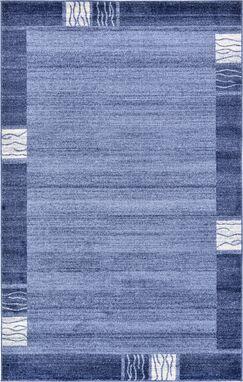 Dungan Light Blue Area Rug Rug Size: Rectangle 5' x 8'
