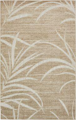 Spathariko Beige Indoor/Outdoor Area Rug Rug Size: Rectangle 5' x 8'