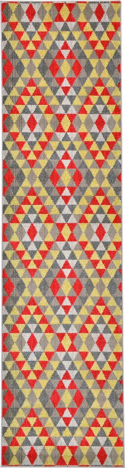 Auyeung Red/Gray Area Rug Rug Size: Runner 2'7