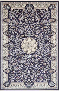 Jackson Navy Blue Area Rug Rug Size: Rectangle 13' x 19'8
