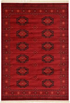Kowloon Red Area Rug Rug Size: Rectangle 7' x 10'