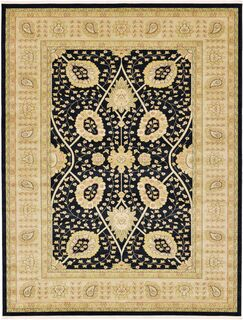 Willow Black Area Rug Rug Size: Rectangle 7' x 10'