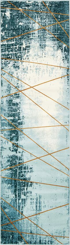 Brayden Dark Blue Area Rug Rug Size: Runner 3' x 10'