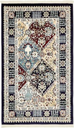 Rupe Navy Blue Area Rug Rug Size: Rectangle 3' x 5'