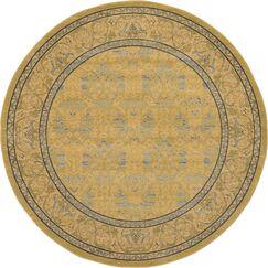 Fonciere Tan Area Rug Rug Size: Round 8'