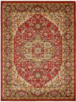 Zoey Red Area Rug Rug Size: Rectangle 12'2
