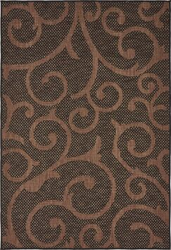 Stedman Chocolate Brown Outdoor Area Rug Rug Size: Rectangle 6' x 9'