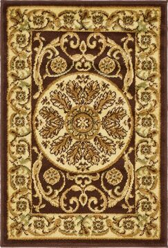 Oskar Brown Area Rug Rug Size: Rectangle 2' x 3'