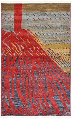 Foret Noire Red Area Rug Rug Size: Rectangle 3'3