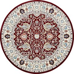 Quince Burgundy/Ivory Area Rug Rug Size: Round 10'