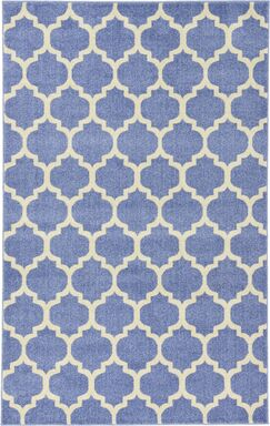 Harding Light Blue Area Rug Rug Size: Rectangle 5' x 8'