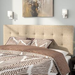 Francis Upholstered Panel Headboard Size: King, Upholstery: Gray