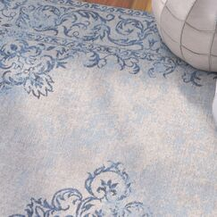 Cordele Hand-Woven Sky Blue/Beige Area Rug Rug Size: Rectangle 5' x 7'6