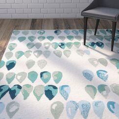 Heitz Ivory/Blue/Green Indoor/Outdoor Area Rug Rug Size: Rectangle 5' x 7'6