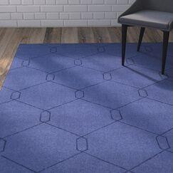 Belle Hand-Woven Dark Blue Area Rug Rug Size: Rectangle 5' x 7'6