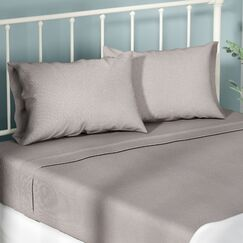 Aguirre 4 Piece Sheet Set Size: Queen, Color: Platinum
