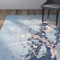 Schaub Hand-Tufted Blue Area Rug Rug Size: Rectangle 7'6