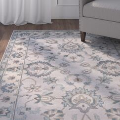 Blake Hand-Tufted Taupe/Blue Area Rug Rug Size: Rectangle 5' x 8'