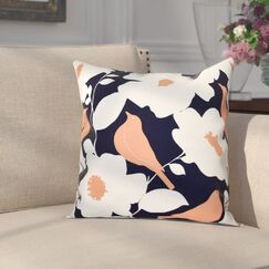 Franca Modfloral Floral Print Throw Pillow Size: 16