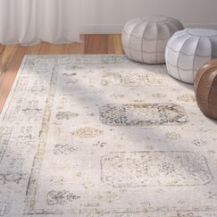 Jazzerus Beige Area Rug Rug Size: Rectangle 7'10