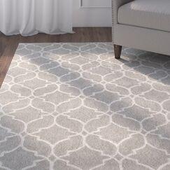 Dorothy Geometric Hand-Tufted Wool Gray Area Rug Rug Size: 5' x 8'