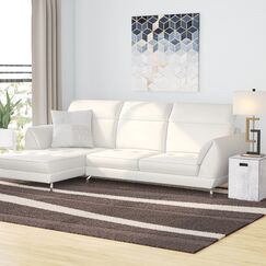 Brinn Reclining Sectional Orientation: Left Hand Facing, Upholstery: White