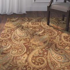 Lanesborough Hand-Tufted Brown/Gold Area Rug Rug Size: Rectangle 7'6