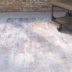 Foresta Abstract Blue Area Rug Rug Size: Runner 2'3