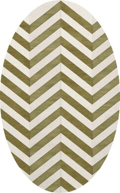 Shellenbarger Wool Herb/White Area Rug Rug Size: Oval 8' x 10'