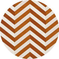 Shepler Wool Tangerine Area Rug Rug Size: Round 8'