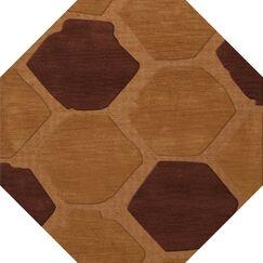 Hamswell Wool Cider Area Rug Rug Size: Octagon 8'