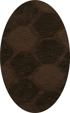 Harmonia Wool Nutmeg Area Rug Rug Size: Oval 3' x 5'