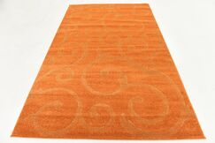Cartagena Wool Orange Area Rug Rug Size: 5'  x 8'
