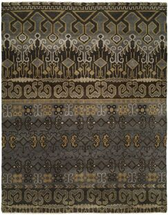 Goel Hand Knotted Wool Gray/Brown Area Rug Rug Size: Rectangle 6' x 9'