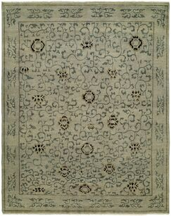 Evalyn Hand-Knotted Wool Beige Area Rug Rug Size: Rectangle 4' x 6'